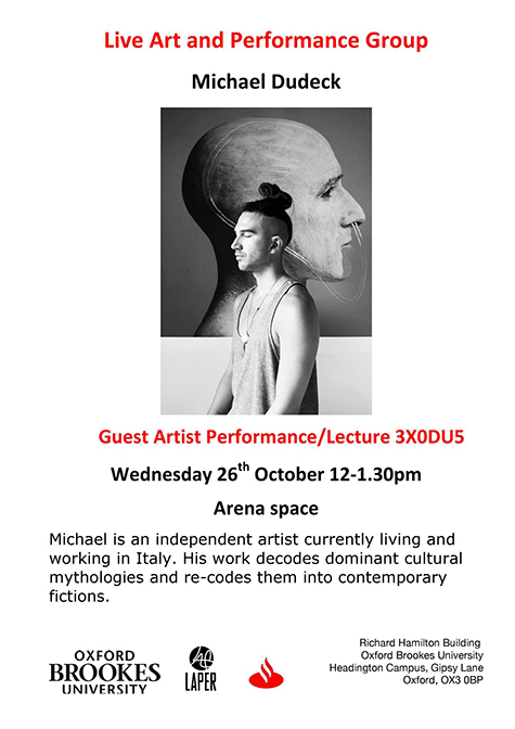 Live art and performance group poster